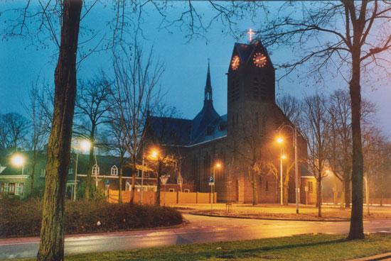 Antoniuskerk bij Nacht